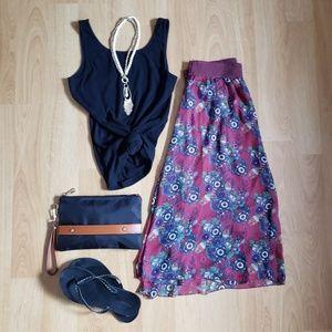 Lularoe Lola Midi Skirt sz Medium